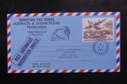 """T.A.A.F. - Aérogramme Pour Le Chili En 1994, Cachet """"  Piste Endommagée Inauguration Annulée """" - L 47808 - Enteros Postales"""