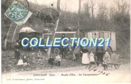 LIANCOURT .... ROUTE D ARS .... UN CAMPEMPENT ... ROULOTTE GITAN - Liancourt