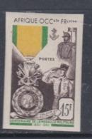 A.O.F. N° 46 Nd XX Centenaire De La Médaille Militaire Variété Non Dentelée, Sans Charnière TB - A.O.F. (1934-1959)