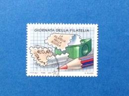 2003 ITALIA FRANCOBOLLO USATO STAMP USED GIORNATA DELLA FILATELIA - 2001-10: Usados