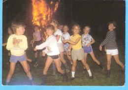 Bivak P Chiro-een Wereld Apart Waar Mensen...- Verstuurd Uit De Panne - Foto : Dia Chiromeisjes Windekind, Zwijndrecht - Scoutismo