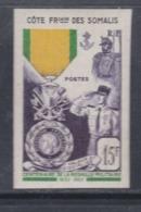 Cote Des Somalis N° 284 Nd XX  Centenaire De La Médaille Militaire Variété Non Dentelée, Sans Charnière, TB - Neufs