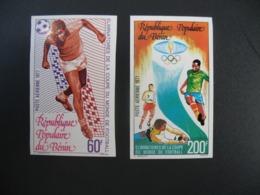 Timbre ND non Dentelé Neuf ** MNH - Imperf   Coupe Du Monde De Football  1977  Bénin N° PA  273 - 274 - Altri