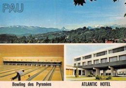 PIE-Z AR-19-2155 :  PAU. ATLANTIC HOTEL. BOWLING DES PYRENEES. VUES MULTIPLES. - Pau