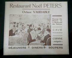 RESTAURANT NOEL PETERS OCTAVE VAUDABLE ILLUSTRE PAR SEM 1910 PASSAGE DES PRINCES PARIS CAVE GASTRONOMIE PUB ANCIENNE - Werbung