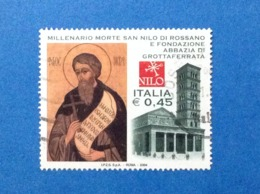 2004 ITALIA FRANCOBOLLO USATO STAMP USED SAN NILO E ABBAZIA DI GROTTAFERRATA - 2001-10: Usados