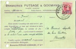 Publicité Bière. Houdeng-Aimeries. Brasserie Putsage Et Goemans - Advertising