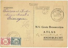 Publicité Bière. Anderlecht. Brasserie Atlas Brouwerijen. Timbres  Taxe. - Publicité