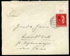 Deutsches Reich / 1938 / Mi. 664 OR EF Auf Brief Stegstempel Hamburg-Harburg (1688) - Germania
