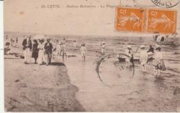 Hérault - SETE - CETTE - La Plage Et La Mer Méditerranée - Animée - Sete (Cette)