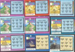 Tickets à Gratter  - LOTERIE NATIONALE Belge - Nombreux SUBITO En Francs - Billets De Loterie