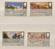Gibraltar 1973 Sg317-20 Watermak Upright 317 And 9 MLH And 318 And 20  MNH - Gibilterra