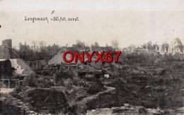 Carte Photo Militaire Allemand LANGEMARK-POELKAPELLE-Ypern-Flandern-Belgique-Vue Du Village En Ruine Guerre-Krieg 14-18 - Langemark-Poelkapelle