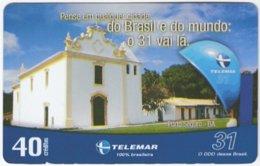 BRASIL I-935 Magnetic Telemar - Religion, Church - Used - Brésil