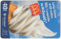 BRASIL I-937 Magnetic Telemar - Food, Ice Cream - Used - Brésil