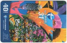 BRASIL I-940 Magnetic Telemar - Plant, Flower - Used - Brésil