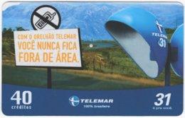 BRASIL I-942 Magnetic Telemar - Communication, Phone Booth - Used - Brésil