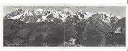 22783 - Cabane Du Mont Fort Verbier Carte Panorama Sur Le Massif Du Trient (grand Format) - VS Wallis