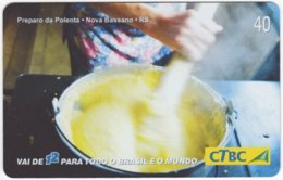 BRASIL K-086 Magnetic CTBC - Food, Traditional Meal - Used - Brésil