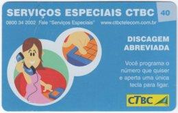 BRASIL K-095 Magnetic CTBC - Cartoon, Communication, Telephone - Used - Brésil