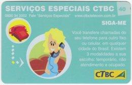 BRASIL K-096 Magnetic CTBC - Cartoon, Communication, Telephone - Used - Brésil