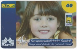 BRASIL K-120 Magnetic CTBC - People, Child - Used - Brésil