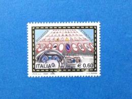 2004 ITALIA FRANCOBOLLO USATO STAMP USED SICUREZZA STRADALE 0,60 - 2001-10: Usados