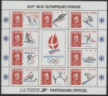 "BF 14 ""XVI Jeux Olympiques D'Hiver / ALBERTVILLE 92"". Neuf Sans Charnière **. TB - Nuovi"