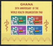 GHANA   1968 - WHO Organization Mi. B32.  - 1BF Nuovo** - Ghana (1957-...)