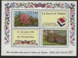 """BF 15 """"Le Salon Du Timbre 1994 Parc Floral De Paris"""". Cote 11 €. Neuf Sans Charnière **. TB - Blocs & Feuillets"""