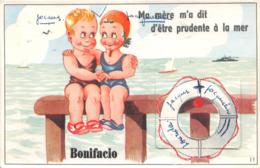 Carte à Système (10 Vues) - BONIFACIO - Ma Mère M'a Dit D'être Prudente à La Mer - Cartoline Con Meccanismi