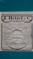 Ancienne Pub J.Hetzel & Cie,nouvelle Publications De 1897 - Pubblicitari