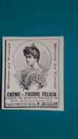 Ancienne Pub Crème De Poudre Félicia - Pubblicitari