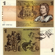 AUSTRALIA       1 Dollar       P-42d       ND (1983)       UNC - Decimal Government Issues 1966-...