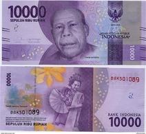 INDONESIA       10,000 Rupiah      P-157a       2016/2016   UNC  [ 10000 ] - Indonesia