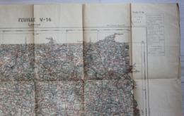 Carte Au 100.000 De Lannion Tirage De 1925 Ministère De L'Intérieur Ministère De La Guerre Service Géographique Hachette - Cartes Géographiques