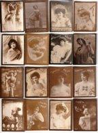 26 Mini Photos Publicitaires De Célébrités Du Spectacle.  Monocolores. Pub Pour Les Cigarettes MELIA. Format 5 X 6.3 Cm. - Beroemde Personen