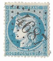TIMBRE 60/1   ;  GC 4687  OISY-LE- VERGER  ; PAS DE CALAIS; TTB - 1871-1875 Cérès