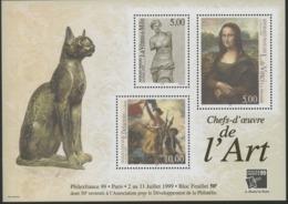 """BF 23 """"Chefs-d'oeuvre De L'Art PHILEXFRANCE 99 PARIS"""". Cote 50 €. Neuf Sans Charnière **. TB - Sheetlets"""
