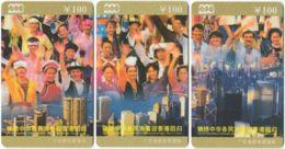 CHINA E-193 Prepaid ChinaTelecom - Occasion, Hong Kong Back To China (puzzle) - 3 Pieces - Used - China