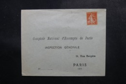 FRANCE - Type Semeuse Perforé CNE Sur Enveloppe Non Circulé - L 47844 - France
