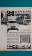 Ancienne Pub,téléviseur Schneider, Renault 4 L - Pubblicitari