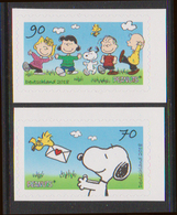 GERMANY, 2018, MNH, SNOOPY, PEANUTS, 2v, SELF-ADHESIVE, Ex. BOOKLET - Childhood & Youth