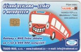 CZECH REP. D-421 Chip TradoMad - Cartoon, Traffic, Bus - Used - Tschechische Rep.