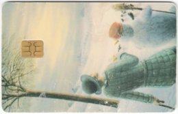 CZECH REP. D-426 Chip CityCard - Painting, Landscape, Winter - Used - Tschechische Rep.
