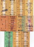 Romania, 1970's-1980's, Romanian Railways CFR - Lot Of 11 Train Tickets - Otros
