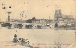 Pont à Mousson - Quartier Et Eglise St Saint-Martin, Pont De La Moselle - Lavandières - Edition G. Gangloff - Pont A Mousson