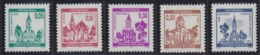 Croatia Republic Of Serbian Krajina 1995 Definitive - Architecture, Churches, MNH (**) Michel 45-49 - Croatie