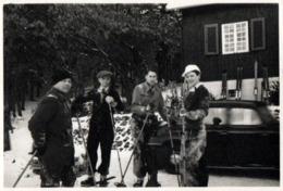 Photo Originale Neige, Hiver & Skieurs Vers 1930/40 - Anonieme Personen