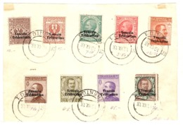 Italie/Trentin YT N° 19/27 Oblitérés Sur Grand Fragment. B/TTB. A Saisir! - 8. WW I Occupation